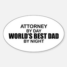 World's Greatest Dad - Attorney Decal