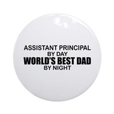 World's Greatest Dad - Asst Principal Ornament (Ro