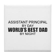 World's Greatest Dad - Asst Principal Tile Coaster
