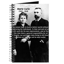 Humanities Quote Marie Curie Journal