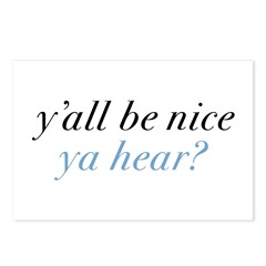 y'all be nice Postcards (Package of 8)