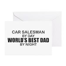 World's Best Dad - Car Salesman Greeting Cards (Pk