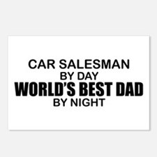 World's Best Dad - Car Salesman Postcards (Package