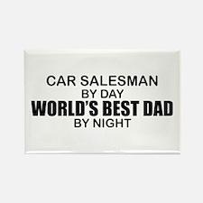 World's Best Dad - Car Salesman Rectangle Magnet