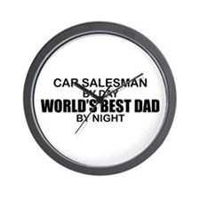 World's Best Dad - Car Salesman Wall Clock