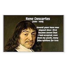 False Opinion Rene Descartes Rectangle Decal