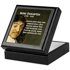 False Opinion Rene Descartes Keepsake Box