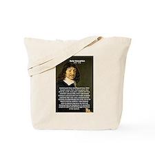 False Opinion Rene Descartes Tote Bag