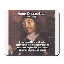 Truth Doubt Rene Descartes Mousepad