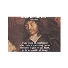 Truth Doubt Rene Descartes Rectangle Magnet