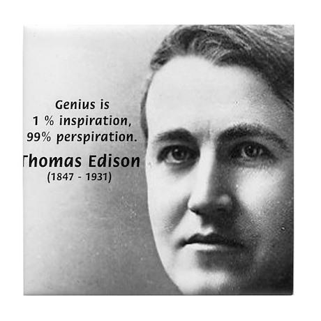 Thomas Edison Inspiration Tile Coaster