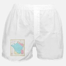 Vintage Map of France (1793) Boxer Shorts