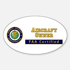 FAA Certified Aircraft Owner Decal