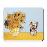 Sunflowers / Yorkie #17 Mousepad
