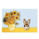 Sunflowers / Yorkie #17 Postcards (Package of 8)