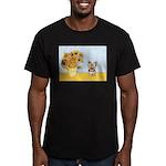 Sunflowers / Yorkie #17 Men's Fitted T-Shirt (dark
