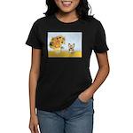 Sunflowers / Yorkie #17 Women's Dark T-Shirt