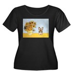 Sunflowers / Yorkie #17 Women's Plus Size Scoop Ne