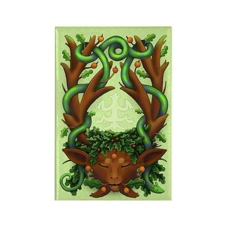 Greenman Herne (greenhorn) Rectangle Magnet