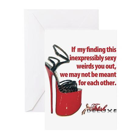Red Fetish Shoe Greeting Cards (Pk of 10)