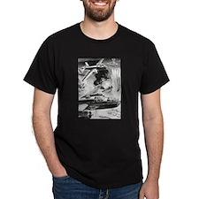 B-25 WW II Illustration Black T-Shirt