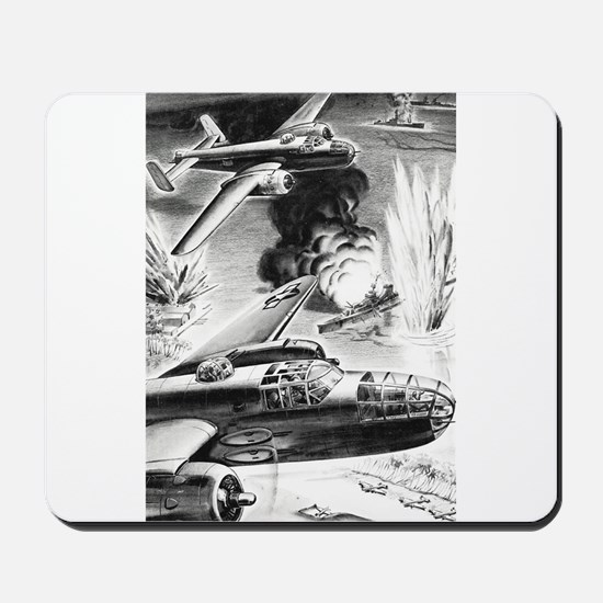 B-25 WW II Illustration Mousepad