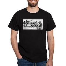 B-25 Crew Walking to Bomber Black T-Shirt