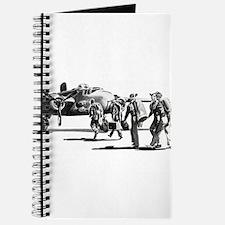 B-25 Crew Walking to Bomber Journal