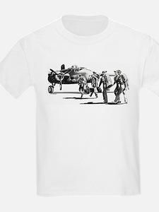 B-25 Crew Walking to Bomber Kids T-Shirt