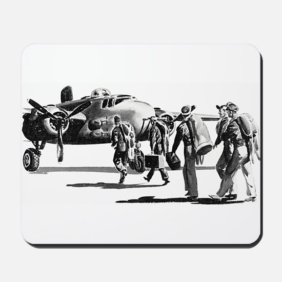 B-25 Crew Walking to Bomber Mousepad