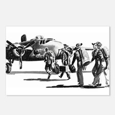 B-25 Crew Walking to Bomber Postcards (Package of