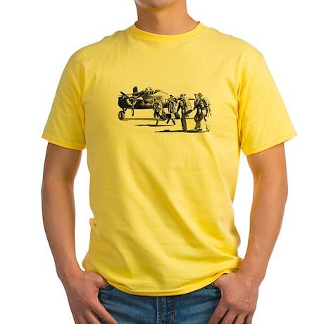 B-25 Crew Walking to Bomber Yellow T-Shirt