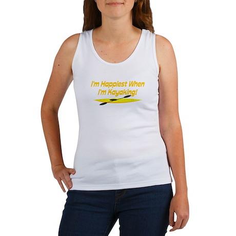 I'm Happiest When I'm Kayaking Women's Tank Top