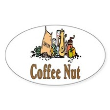 Coffee Nut Oval Decal