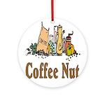 Coffee Nut Ornament (Round)
