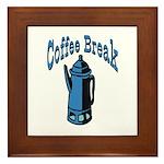 Coffee Break Framed Tile