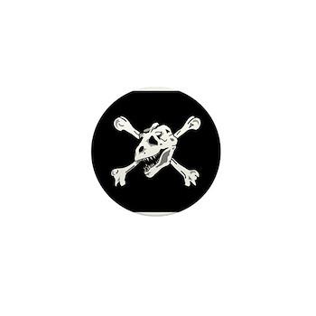Cool T-rex Pirate Mini Button