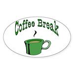Coffee Break Oval Sticker