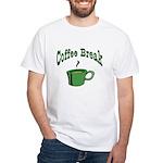 Coffee Break White T-Shirt