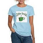 Coffee Break Women's Pink T-Shirt