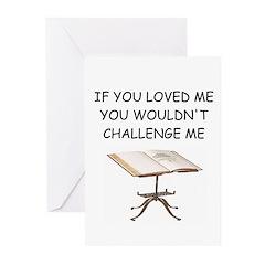 word game joke Greeting Cards (Pk of 20)