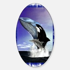 Whales Oval Decal