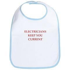 funny electrician joke Bib
