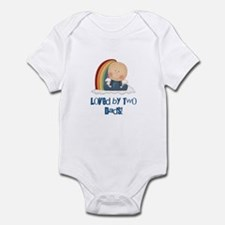 Loved By Two Dads GAY Infant Bodysuit