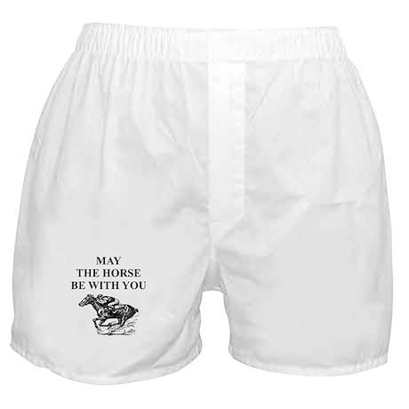 thoroughbred horse racing Boxer Shorts