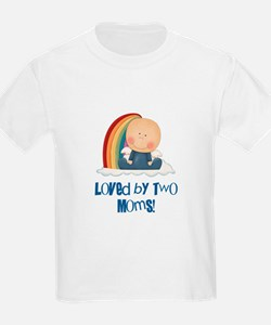Loved by Two Moms GAY T-Shirt