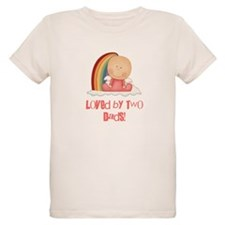 Loved by Two Dads GAY T-Shirt