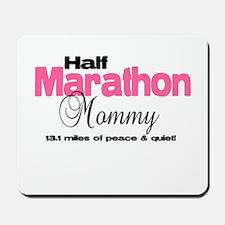 Half Marathon Mommy Peace Qui Mousepad