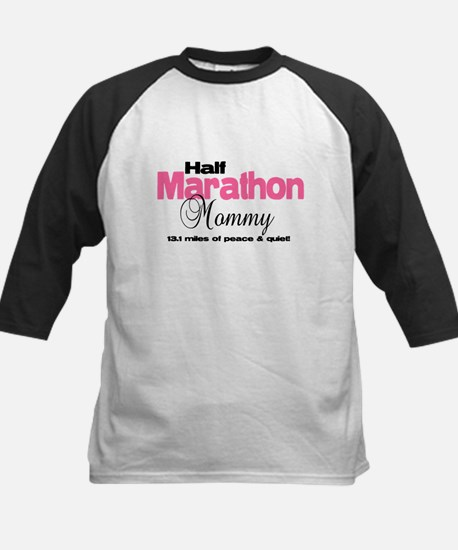Half Marathon Mommy Peace Qui Kids Baseball Jersey