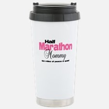 Half Marathon Mommy Peace Qui Travel Mug